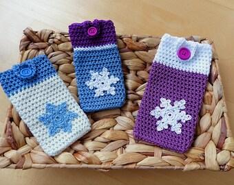 "PDF: Smartphone Cozy ""Snowflake"" Crochet Pattern"