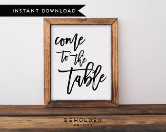 Digital Download, Wall Decor, Dining Room Decor, Grateful Print, Thanksgiving Printable, Scripture Printable, Faith Print, Hospitality Print
