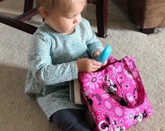 TODDLER TOTE. CUSTOM! Toddler Purse. Small Tote. Child's Tote. Small Purse. Unique Child's Gift! Travel Tote. Child's Purse. Unique Gift