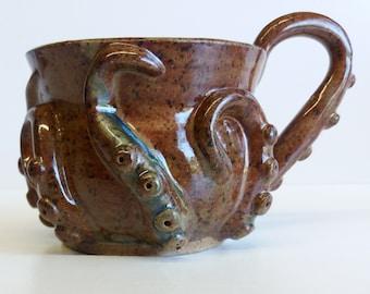 orange-green octomug, the octopus mug!