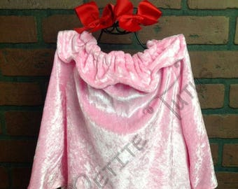 Pink gown costume, pink gown, red bows, girls costume, halloween costume, custom made, childs costume, toddler costume, baby costume