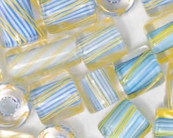 Blue Hawaiian David Christensen Furnace Glass Beads (110)