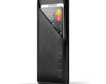 Mujjo Leather Wallet Sleeve for iPhone 7 - Black