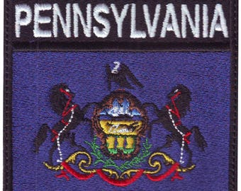 Pennsylvania  Badge Flag Embroidered Patch