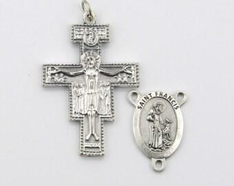 Set of 10 Jesus Sacred Heart Rosary Centerpiece Parts Grape