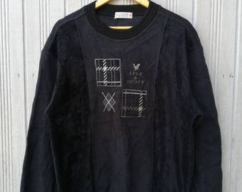 Vintage Lyle & Scott Nice Design Sweatshirt Size L