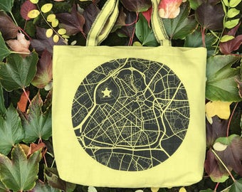 Tote bag 100% yellow Lille