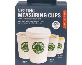 Kikkerland CU98 Nesting Measuring Cups Set of 4