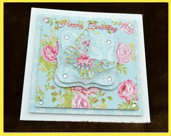 Happy Birthday 3D butterfly card.