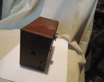 Vintage Kodak Maroon Box Camera, collectable