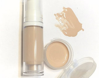 BISQUE Liquid ORGANIC Foundation - Natural Makeup Vegan Gluten Free - Serum Liquid Minerals Fair Skin