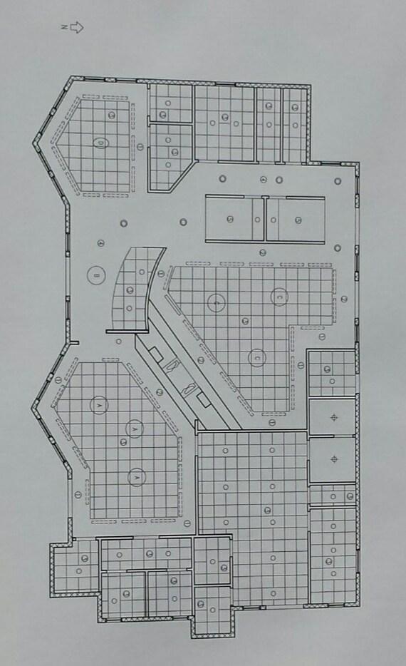 Decke Plan Elektrische Plan Grundriss Blau Drucke Pläne