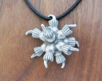 Choanoflagellate Colony Necklace - Choanoflagellate Rosette Pendant, Microbiology, Protozoology Jewelry