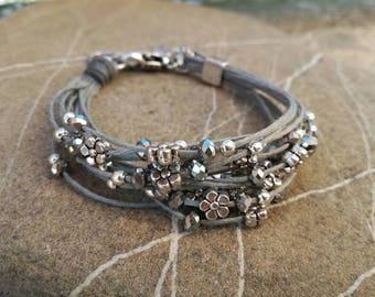 bracelet for woman handmade jewelry boho style beaded bracelet multistrand bracelet cord bracelet charm bracelet beaded jewelry
