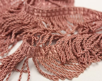 Pink Twisted Rope Fringe - Decorative Trim 811