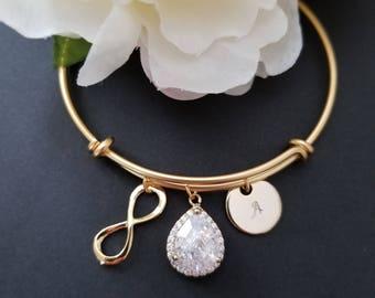 Wedding Bracelet, Drop, bridesmaid gift, bridal gift, Clear, bridesmaid jewerly, wedding jewrly, gift