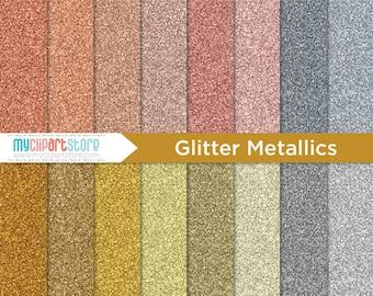 Digital Texture -  Metallic Glitter, Bronze, Copper, Rose Gold, Fine Sparkle Glitter, Scrapbook Paper, Digital Pattern, Commercial Use, JPEG