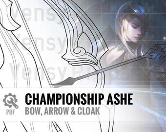 Championship Ashe - Bow & Cloak - DIY Cosplay League of Legends