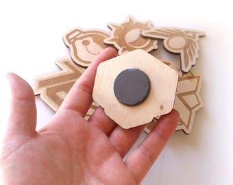 Overwatch Lasercut Wood Fridge Magnets