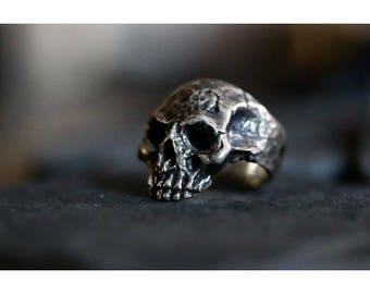 Silver Skull Ring -Skull Statement Ring -Biker Ring - Biker Skull Ring -Thick Band Ring -Sturdy Ring -Unisex Skull Ring -Gothic Skull Ring