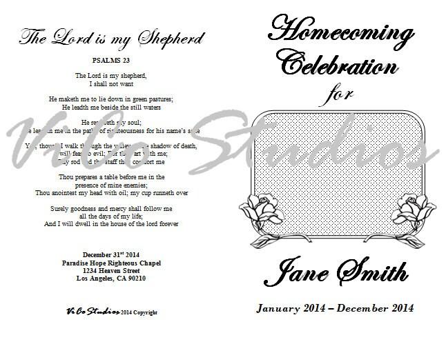 easy homecoming celebration of life rose flower memorial. Black Bedroom Furniture Sets. Home Design Ideas