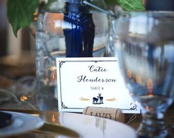 Digital Rustic Wedding Placecards, Printable Romantic Rustic Wedding Placecards, Rustic Woodland Wedding Placecards
