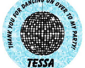 Dance party Sticker dance birthday party favor tag, address label,  personalized stickers