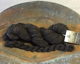 """Hand-Spun 100% Wool Yarn """"Chocolate Brown"""" Hand-Washed, Carded, Spun, Natural Colored, 2 ply, Knit, Crochet, Weave, 282+ yards, Wound FREE"""