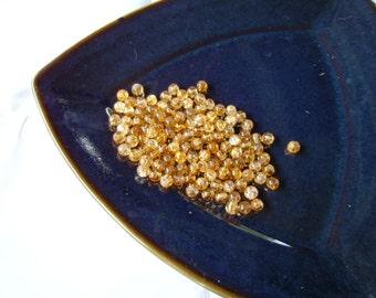 Yellowish Orange Glass Beads