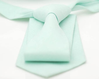 No#87, matte cotton pastel mint green neck-tie, light mint solid plain color, pastel mint groom, groomsmen,mint theme wedding neck ties