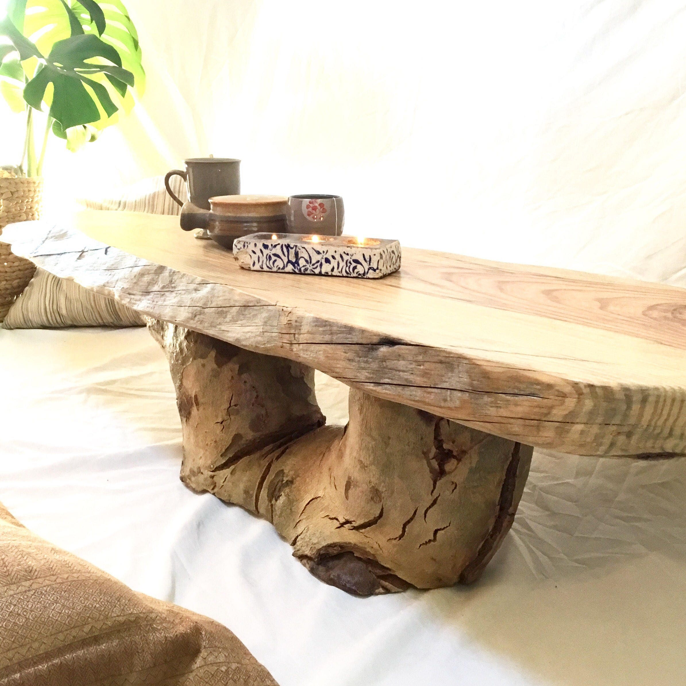 Coffee table Reclaimed Wood Rustic furniture Perth wooden live edge