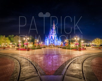 Thank You, and Goodnight - Photo Print, Canvas Wrap, Magic Kingdom, Walt Disney World, Cinderella Castle