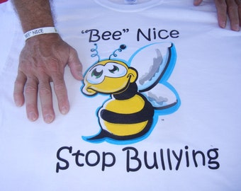 Adult Bee Nice Stop Bullying T-Shirts