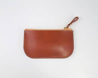 Leather coin purse, Zipper change purse, Leather wallet, Leather coin bag, Zipper purse, Small change purse, Minimal purse, Veg tan leather