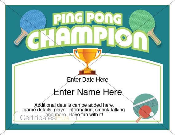 Ping pong certificate champion award ping pong award ping pong certificate champion award ping pong award template pingpong award ping pong table ping pong paddle ping pong trophy awards yadclub Choice Image