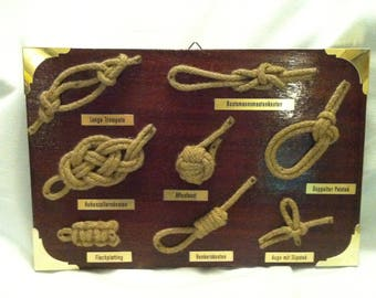 Vintage different sailors knot collectors decorative Object Boating