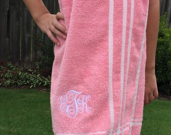 Tween SPA WRAP- CHOOSE your own colors and personalization- One size fits most