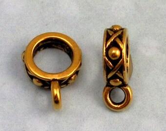 Legend Round Bail, Antique Gold, TierraCast 2 Pc. TG3