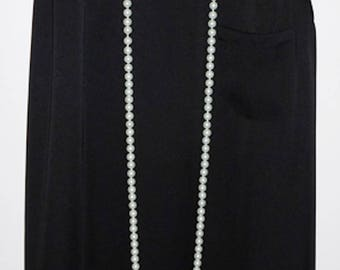 """LONG - 60"""" Faux Pearl Necklace 1920s Style Charleston Flapper Downton Abbey"""