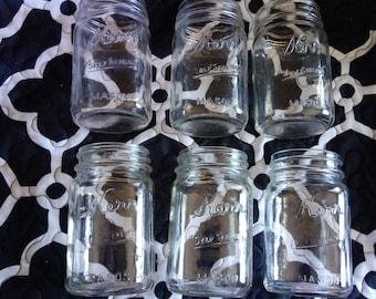 "Vintage Kerr ""self sealing"" Mason jars"