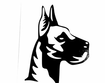 DIY Vinyl Decal Great Dane Dog. Choose Size, Choose Color, Laptop, Tablet, Cell Phone, Car Window Decal, Glassware, Drinkware, Picture Frame