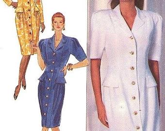 Women's Dress Sewing Pattern UNCUT Butterick 3801 Designer Kathryn Conover Miss Size 8-12