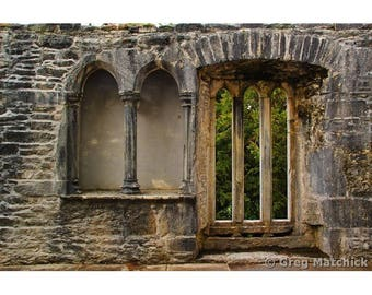 """Fine Art Color Travel Photography of Abandoned Abbey Ruins in Ireland - """"Muckross Abbey Ruins"""""""
