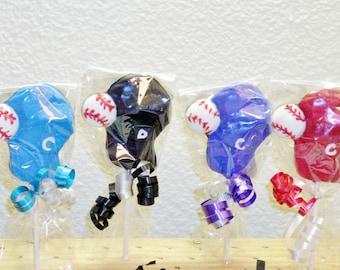 10 Chocolate Baseball Cap and Ball lollipops