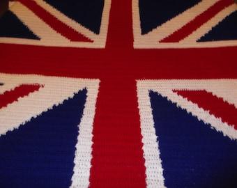Crochet Union Jack blanket  Pattern