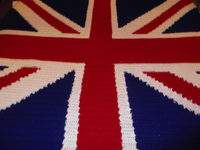 Crochet Union Jack blanket Pattern from LushCrochet on Etsy Studio