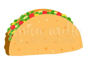 taco art etsy rh etsy com eating mexican food clipart eating mexican food clipart