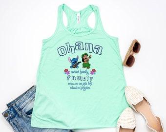 Lilo and Stitch Ohana Means Family   Disney Tank Top   Women's Tank Top shirt