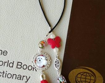 Unique bookmark Dog Lover bookmark Tassle bookmark beaded bookmark Dog Bookmark Book lover gifts Best friend Graduation gifts under 20