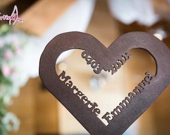 Heart wedding ring pillow
